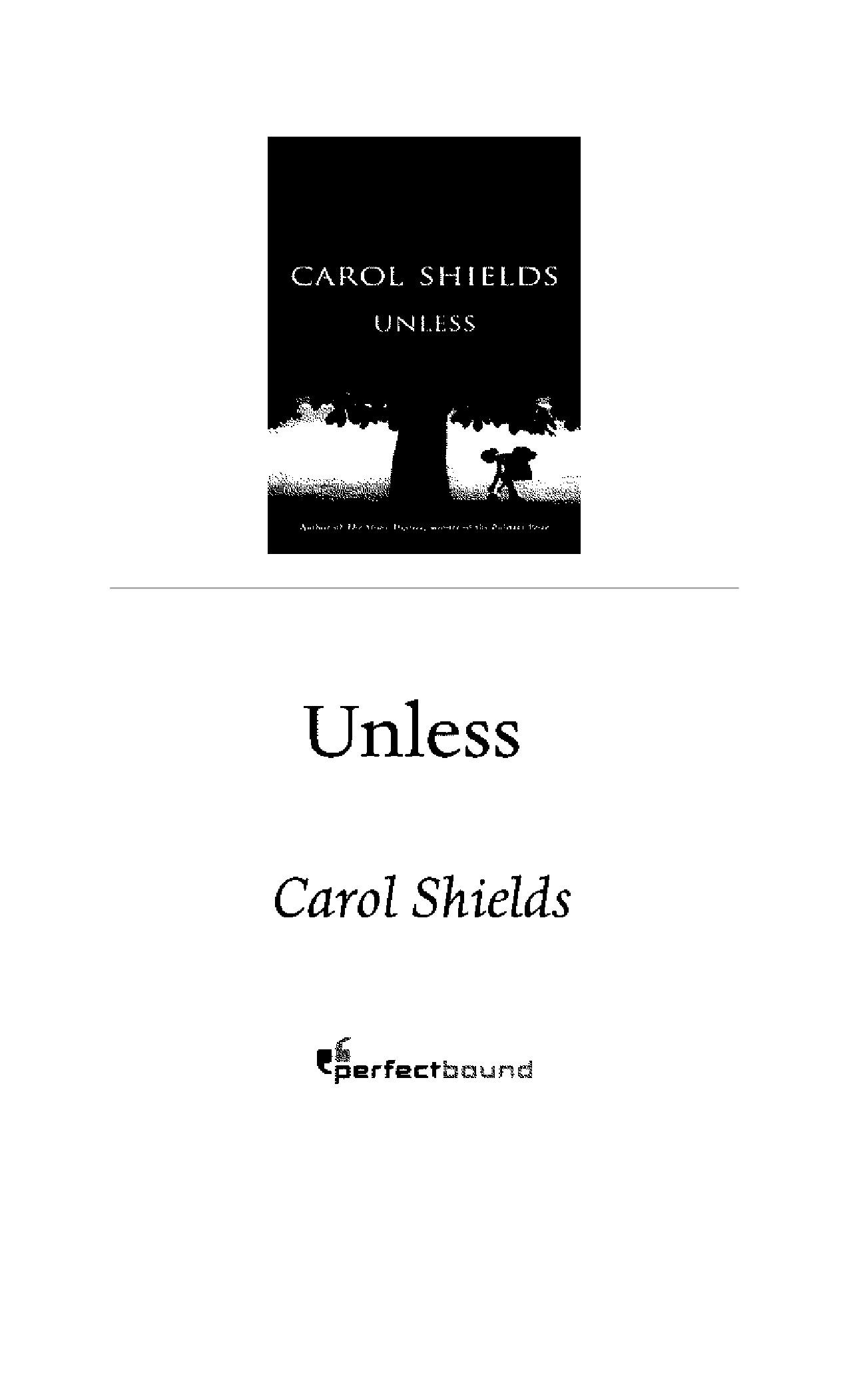 an analysis of the novel unless by carol shield Dustbowl wpa artist revolt illustrates a holocaust if you want to get an easy pulitzer prize-winning novel unless i have not been able to find a complete.